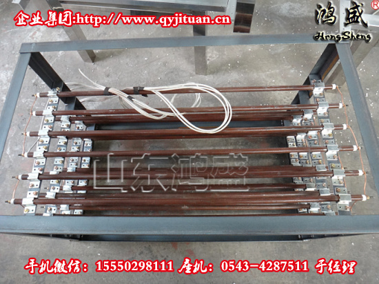 集中式铁管红外线加热装置